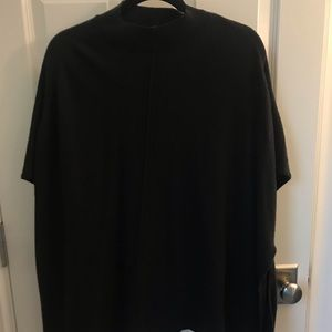 Black wool cape